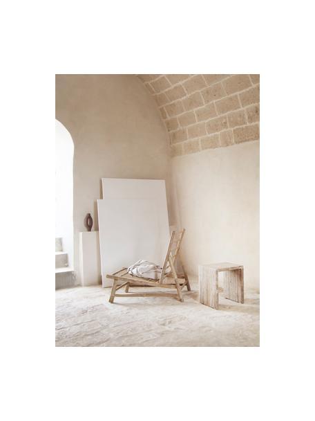 Bambus-Loungesessel Bamslow mit Polsterauflage, Gestell: Bambus, Bezug: 100% Baumwolle, Dunkelgrau, Braun, B 55 x T 87 cm