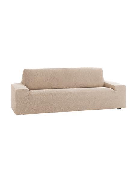Pokrowiec na sofę Roc, 55% poliester, 35% bawełna, 10% elastomer, Beżowy, S 260 x W 120 cm