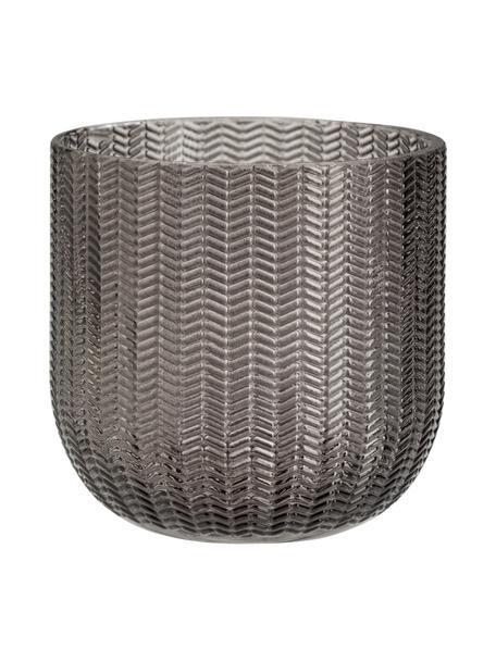 Zahnputzbecher Emilia aus Glas, Glas, Grau, Ø 8 x H 8 cm