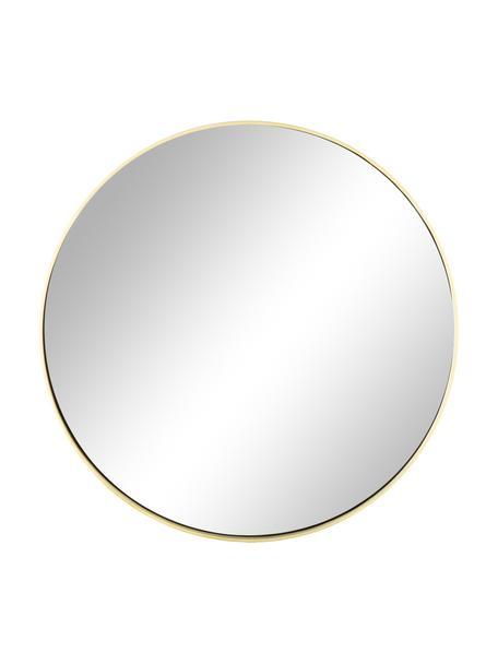 Ronde wandspiegel Ada met goudkleurige lijst, Lijst: vermessingd ijzer, Geborsteld messingkleurig, Ø 80 cm