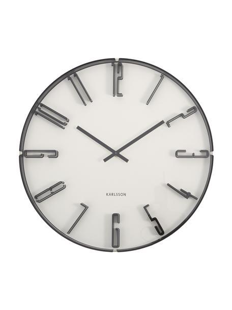 Reloj de pared Sentient, Plástico, Blanco, negro, Ø 40 cm