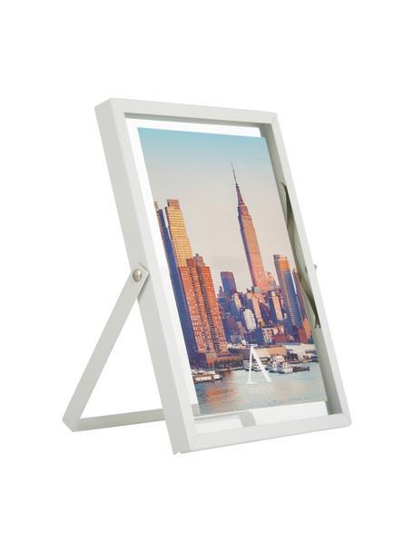 Portafoto da tavolo Marco, Cornice: metallo, Bianco, Larg. 13 x Alt. 18 cm