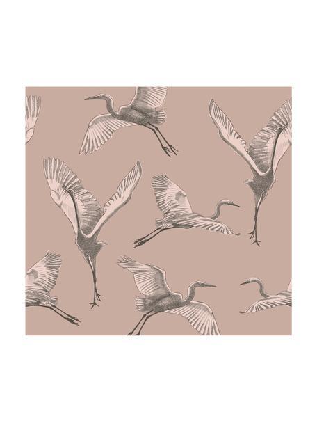 Papel pintado mural Graphic Nature, Tejido no tejido, Rosa, beige, gris, An 300 x Al 280 cm