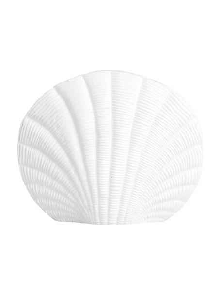 Vaso bianco di design Kapiti, Alluminio rivestito, Bianco, Larg. 23 x Alt. 23 cm