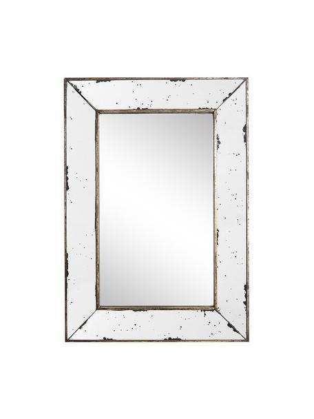 Espejo de pared de metal Bruno, Espejo: cristal, Blanco, latón, An 42 x Al 60 cm