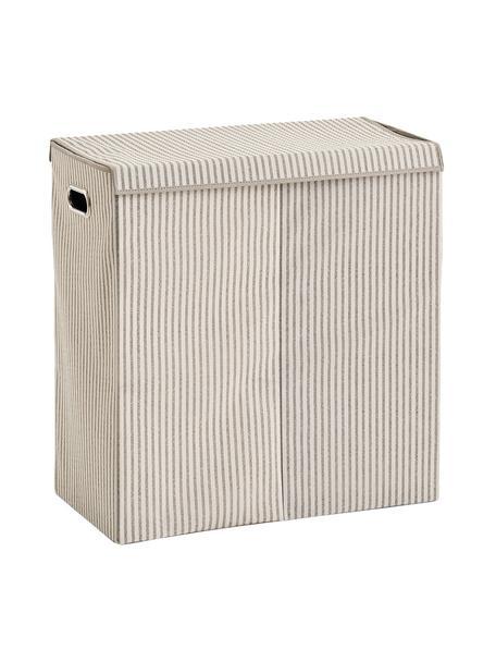Wasmand Stripes, 100% polypropyleen (fleece), Beige, crèmewit, 62 x 63 cm