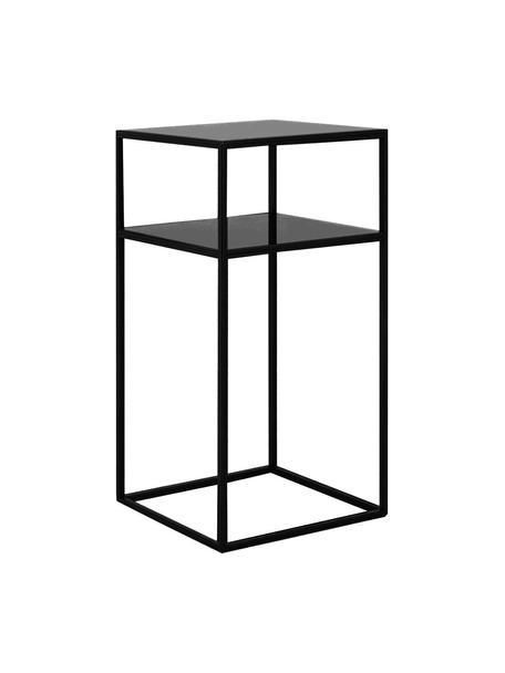 Metalen bijzettafel Tensio in zwart, Gepoedercoat metaal, Zwart, 30 x 30 cm