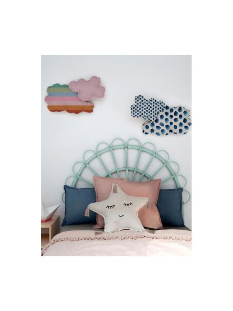 Kuschelkissen Happy Star, Bezug: 85% Polyester, 15% Leinen, Beige, 50 x 50 cm