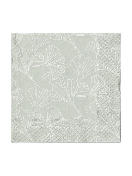 Tovaglioli di carta Gigi 20 pz, Carta, Verde menta, bianco, Larg. 33 x Lung. 33 cm