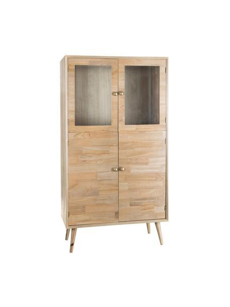 Mueble auxiliar Marni, Patas: madera de alcanfor, Tablero: tablero de fibras de dens, Madera, An 80 x Al 150 cm