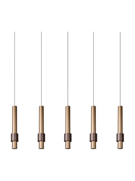 Große LED-Pendelleuchte Margary, Baldachin: Aluminium, beschichtet, Taupe, Dunkelbraun, 103 x 36 cm