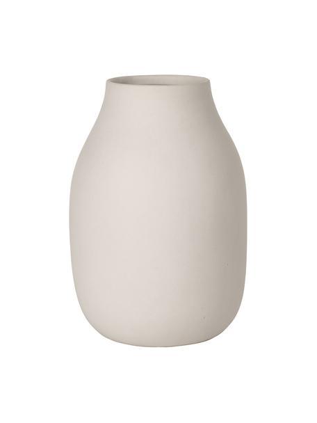 Keramische vaas Colora, Keramiek, Beige, Ø 14 x H 20 cm