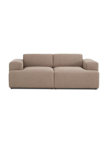 Sofa Melva (2-Sitzer) in Taupe, Bezug: 100% Polyester Der hochwe, Gestell: Massives Kiefernholz, FSC, Füße: Kunststoff, Webstoff Taupe, B 198 x T 101 cm