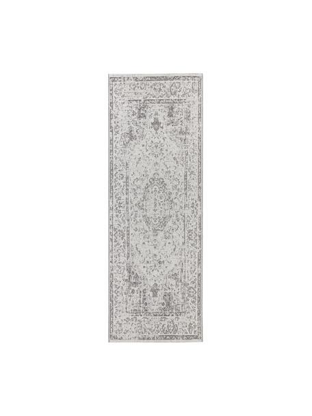 In- & Outdoor-Läufer Cenon im Vintagelook, 100% Polypropylen, Creme, Grau, 80 x 200 cm