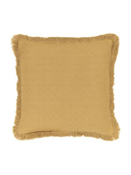 Funda de cojín Lorel, 100%algodón, Amarillo, An 40 x L 40 cm