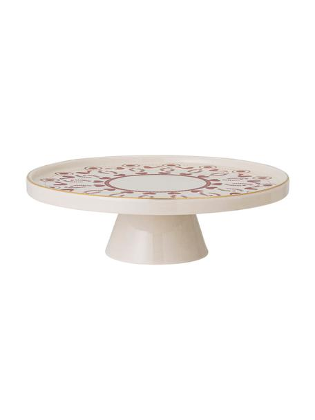 Piatto torta in gres con motivo invernale Jolly, Ø26 cm, Gres, Rosso, bianco, Ø 26 x Alt. 7 cm