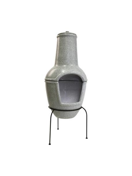 Estufa de patio Cozy, Estructura: metal recubierto, Gris, Ø 44 x Al 112 cm