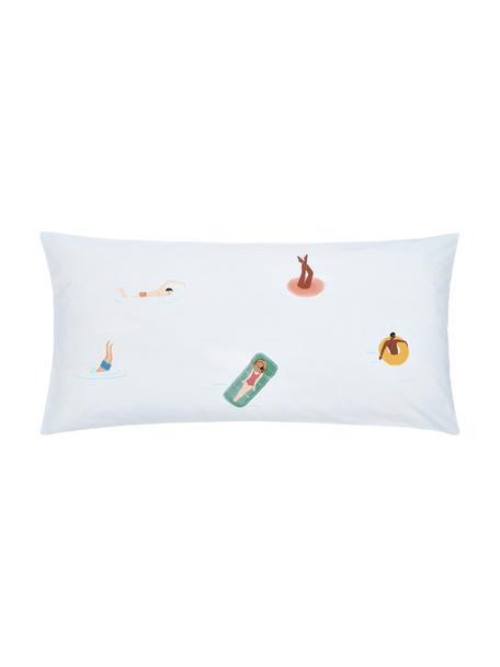 Baumwollperkal-Kopfkissenbezüge Swim mit sommerlichen Motiven, 2 Stück, Webart: Perkal Fadendichte 180 TC, Beige, 40 x 80 cm