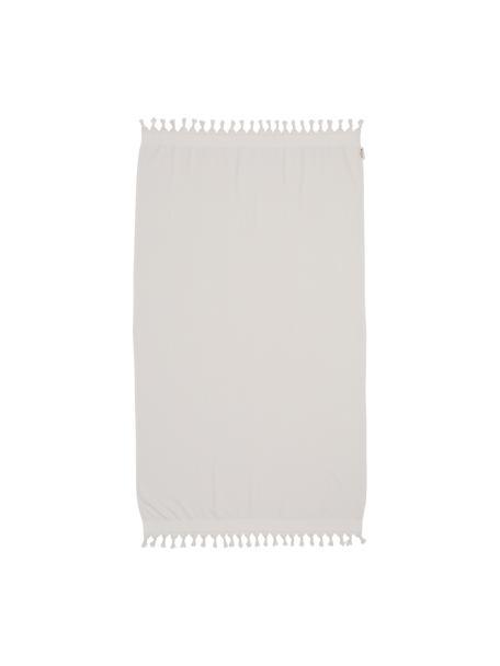 Hamamtuch Soft Cotton mit Frottee-Rückseite, Rückseite: Frottee, Hellbeige, Weiss, 100 x 180 cm