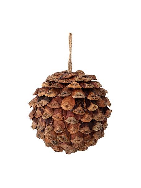 Kerstboomhanger Pinecone, Hout, schuimstof, Bruin, Ø 8 cm