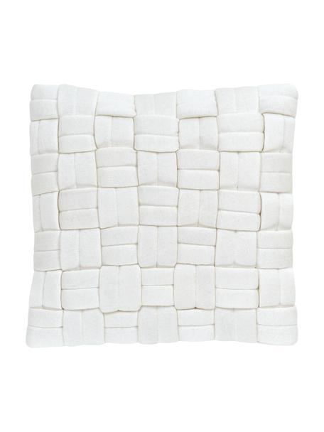 Kissenhülle Norman in Cremeweiß, Weiß, 40 x 40 cm