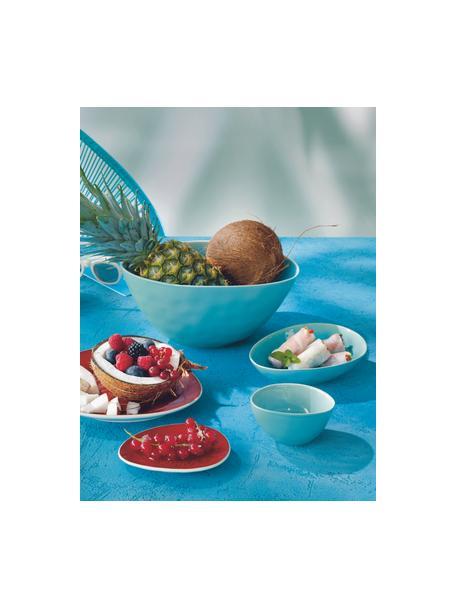 Porseleinen serveerkom à la Plage met craquelé glazuur mat/glanzend, L 25 x B 18 cm, Porselein, craquelé glazuur, Turquoise, 18 x 25 cm