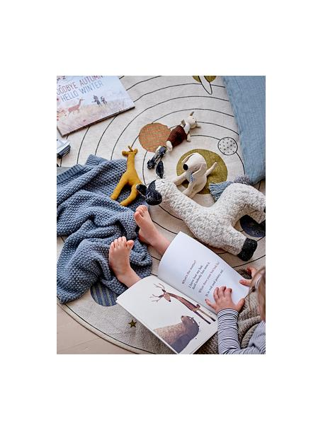 Runder Teppich Space, 98% Baumwolle, 2% gemischte Fasern, Beige, Mehrfarbig, Ø 130 cm (Grösse S)