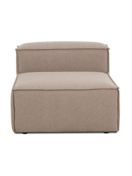 Módulo central sofá Lennon, Tapizado: 100%poliéster Alta resis, Estructura: madera de pino maciza, ma, Patas: plástico Las patas están , Tejido marrón, An 89 x F 119 cm