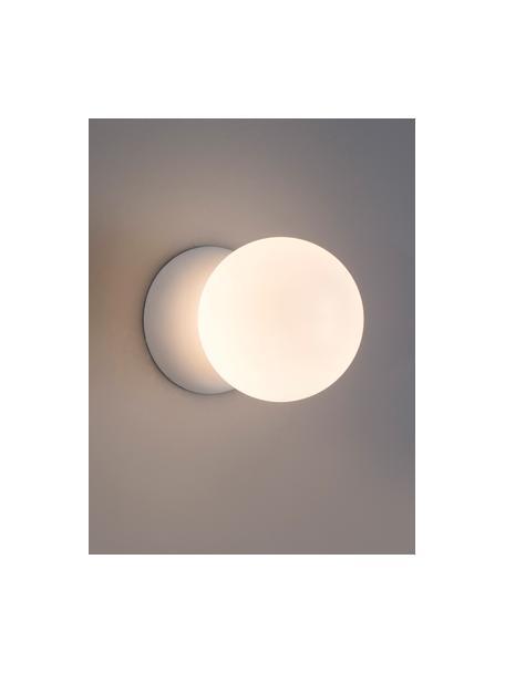 Wand- und Deckenleuchte Zero aus Beton, Lampenschirm: Opalglas, Weiß, Ø 10 x T 14 cm