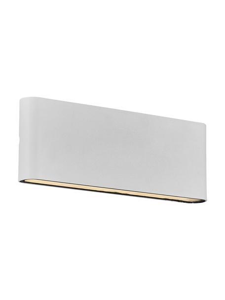 Aplique LED para exterior Kinver, Lámpara: aluminio recubierto, Blanco crudo, An 26 x Al 9 cm