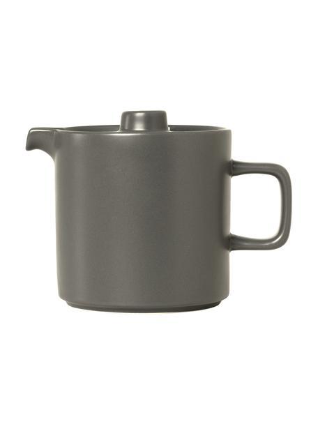 Teekanne Pilar aus Keramik in Dunkelgrau matt/glänzend, 1 L, Keramik, Dunkelgrau, 1 L
