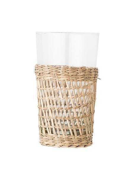 Bicchiere acqua con rivestimento in alghe Daphne 6 pz, Rivestimento: alga marina, intrecciate, Trasparente, Ø 9 x Alt. 15 cm