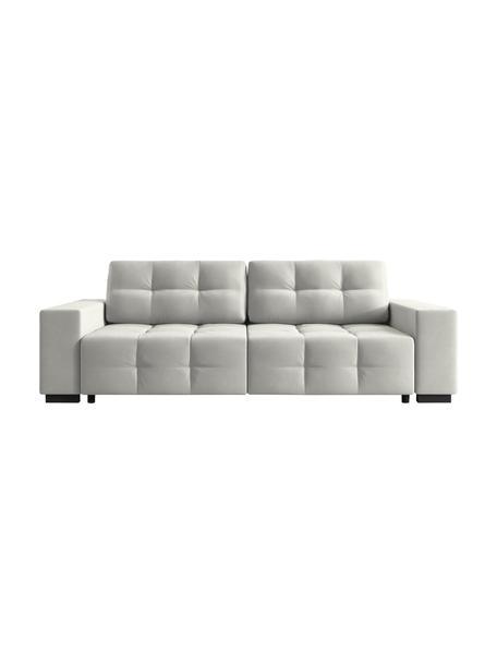 Sofa rozkładana z aksamitu Uvite (3-osobowa), Srebrnoszary, S 250 x G 106 cm