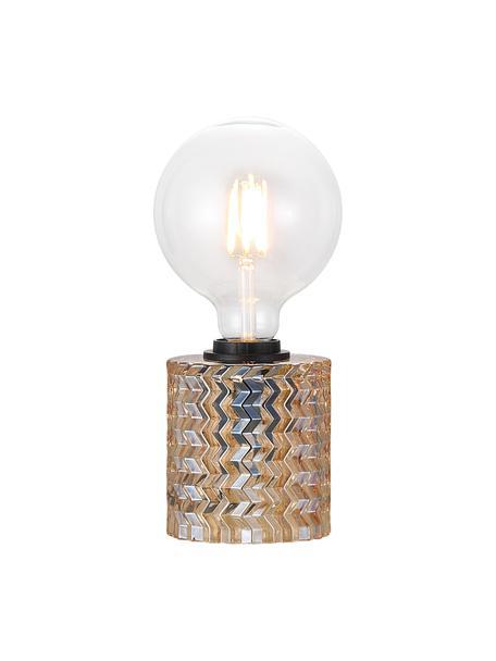 Kleine tafellamp Hollywood van glas, Lampvoet: glas, Goudkleurig, Ø 11 x H 13 cm