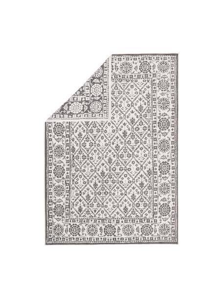 Dubbelzijdig in- en outdoor vloerkleed Curacao in vintage stijl, grijs/crèmekleurig, 100% polypropyleen, Grijs, crèmekleurig, B 80 x L 150 cm (maat XS)