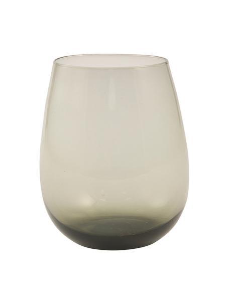 Bauchige Wassergläser Happy Hour in Grau, 6 Stück, Glas, Grau, Ø 9 x H 11 cm
