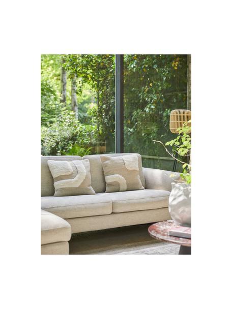 Ręcznie tkana poszewka na poduszkę Laine, Beżowy, S 45 x D 45 cm