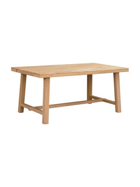 Stół do jadalni z blatem z litego drewna Brooklyn, rozsuwany, Lite drewno dębowe, szczotkowane i jasne lakierowane, Drewno dębowe, S 170 do 220 x G 95 cm