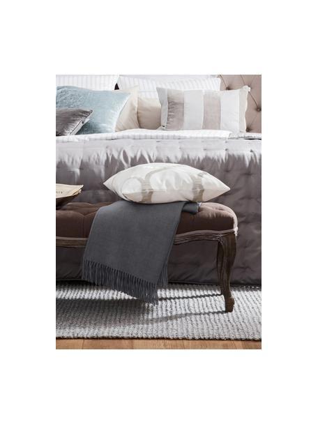 Lichte alpacawollen plaid Luxury in grijs, Grijs, 130 x 200 cm