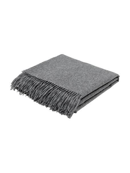 Coperta leggera in baby alpaca color grigio scuro Luxury, Grigio scuro, Larg. 130 x Lung. 200 cm