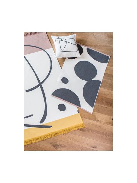 Tappeto con cerchi astratti Goliath, 100% cotone riciclato, Multicolore, Larg. 75 x Lung. 120 cm (taglia XS)