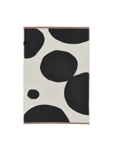 Teppich Goliath mit abstrakten Kreisen, Recycelte Baumwolle, Mehrfarbig, B 75 x L 120 cm (Grösse XS)