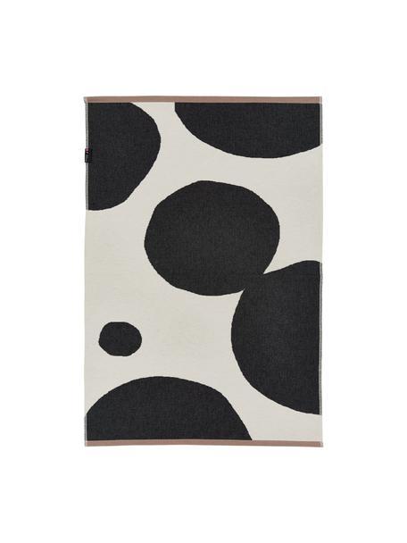 Vloerkleed Goliath met abstracte cirkels, Gerecycled katoen, Multicolour, B 75 x L 120 cm (maat XS)