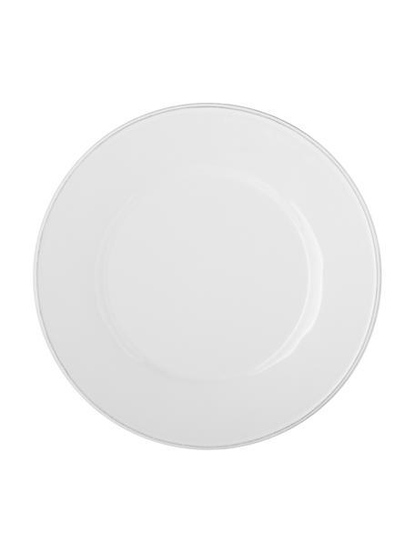 Piatto piano color bianco Constance 2 pz, Gres, Bianco, Ø 29 cm