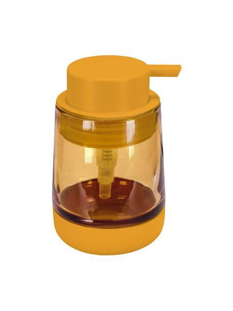 Dosificador de jabón de vidrio Belly, Recipiente: vidrio, Dosificador: plástico, Naranja, Ø 9 x Al 13 cm