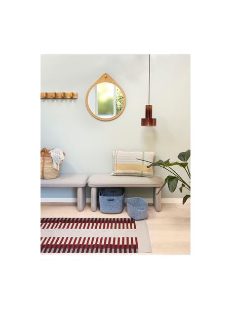 Kleine hanglamp Flowy van glas, Lampenkap: glas, geverfd, Baldakijn: messing, Bruin, transparant, Ø 20 x H 27 cm