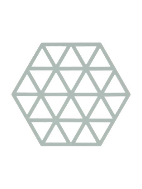 Silicone panonderzetter Triangle, 2 stuks, Siliconen, Pastelblauw, B 14 x D 16 cm