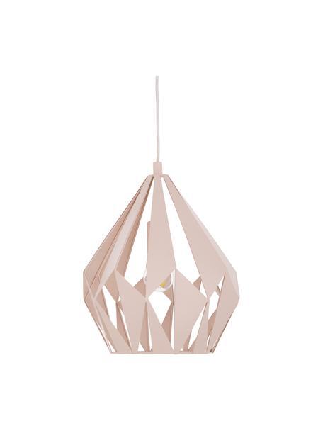 Lámpara de techo Carlton, estilo escandinavo, Pantalla: acero pintado, Anclaje: acero pintado, Cable: plástico, Color albaricoque, Ø 31 x Al 40 cm