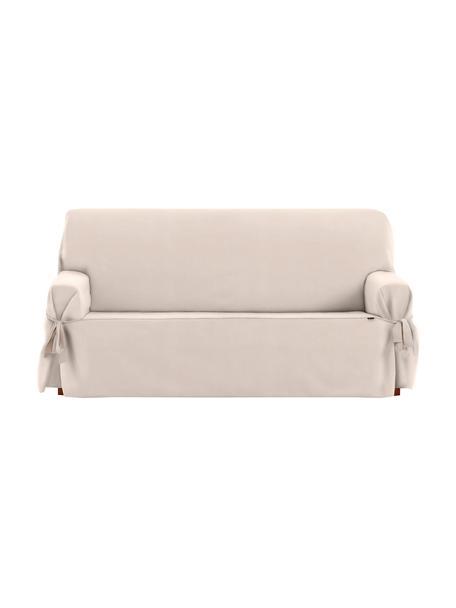 Funda de sofá Levante, 50%algodón, 50%poliéster, Beige, 2 plazas (180 x 110cm)