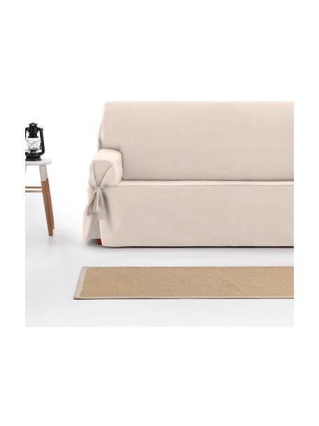 Funda de sofá Levante, 65%algodón, 35%poliéster, Beige, 2 plazas (160 x 110 cm)